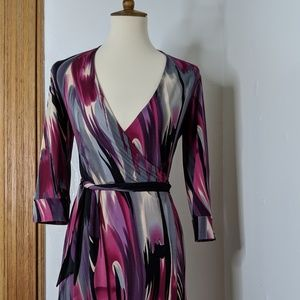 Kenneth Cole Reaction Print Wrap Dress sz Small